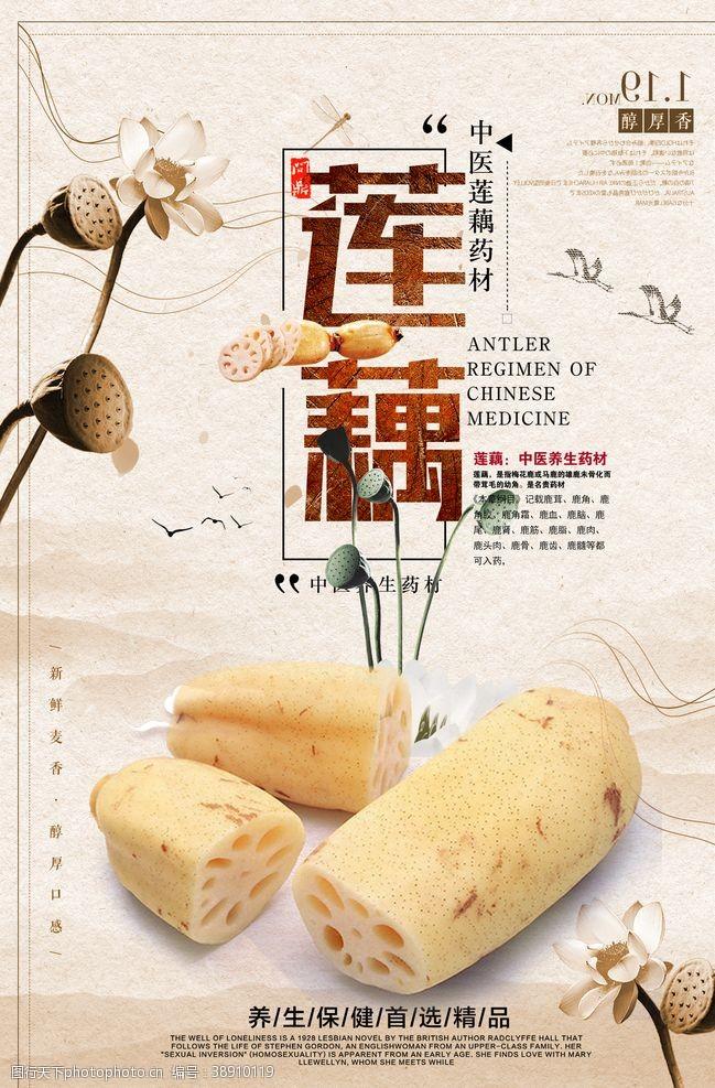菜系美食中國風蓮藕海報