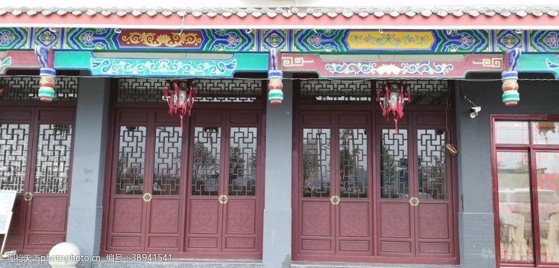 房屋古典建筑 古典大门古建筑图片