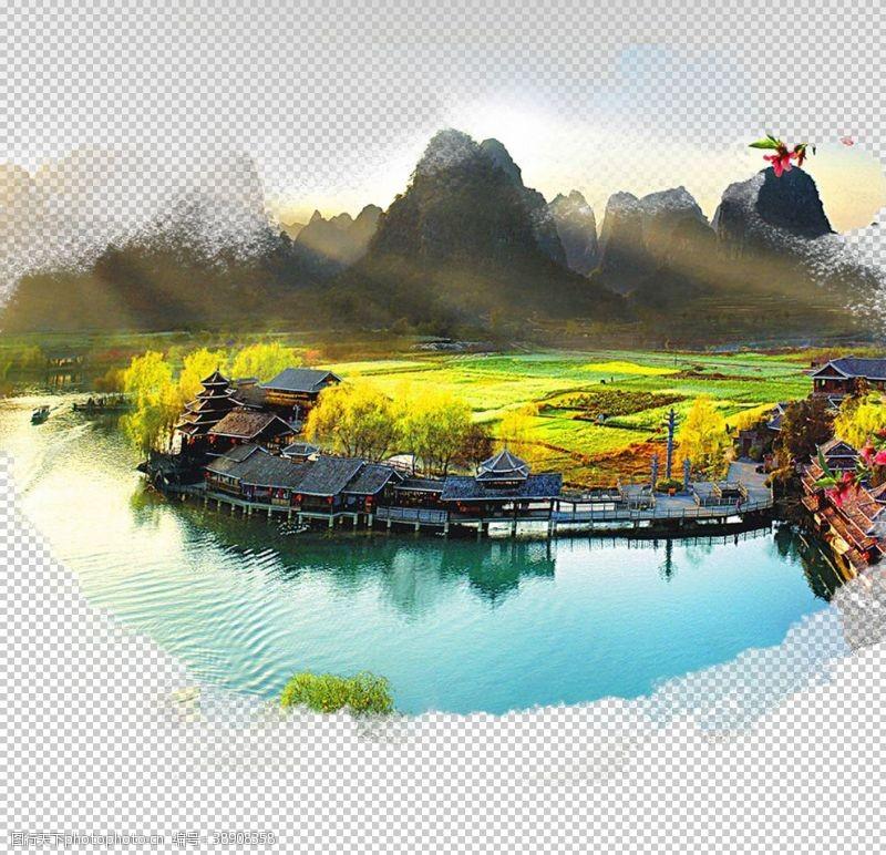 旅游展板桂林山水