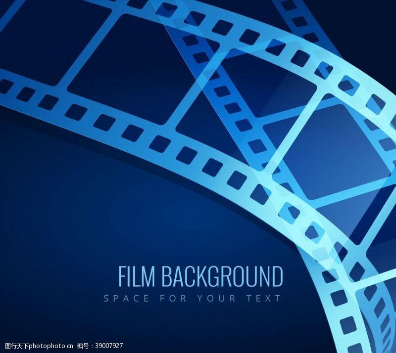 影片 蓝膜背景图片