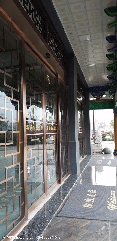 房屋古典建筑 商铺走廊图片