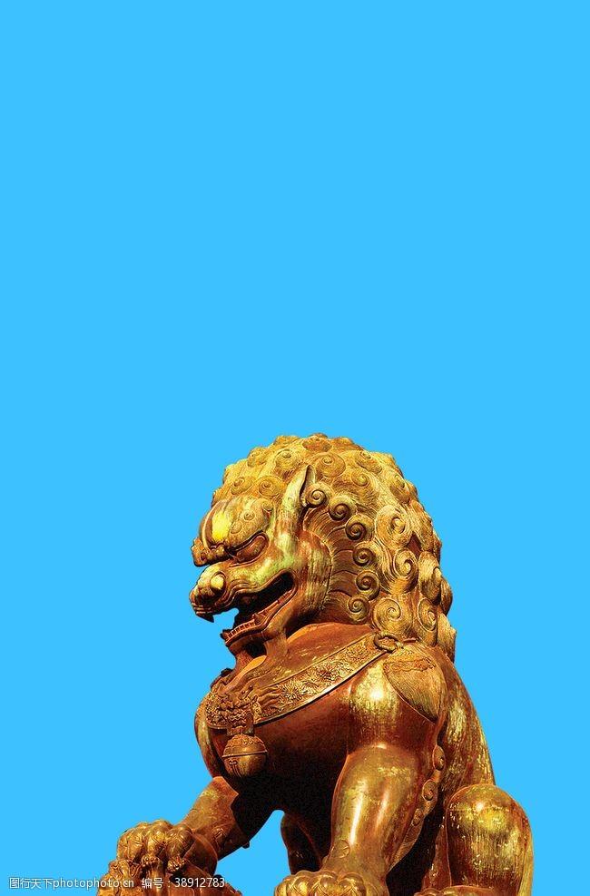 psd狮子雕塑