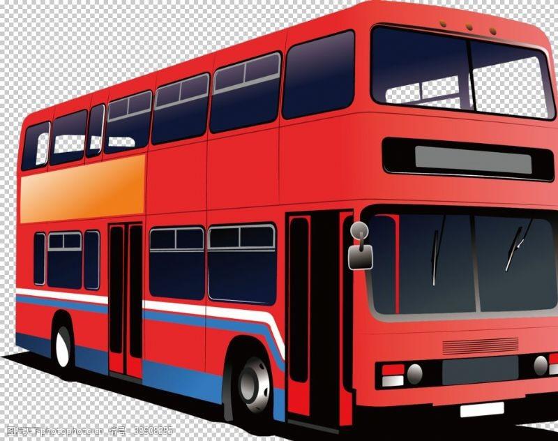旅游展板双层巴士