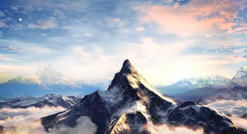 电影背景 雪山图片