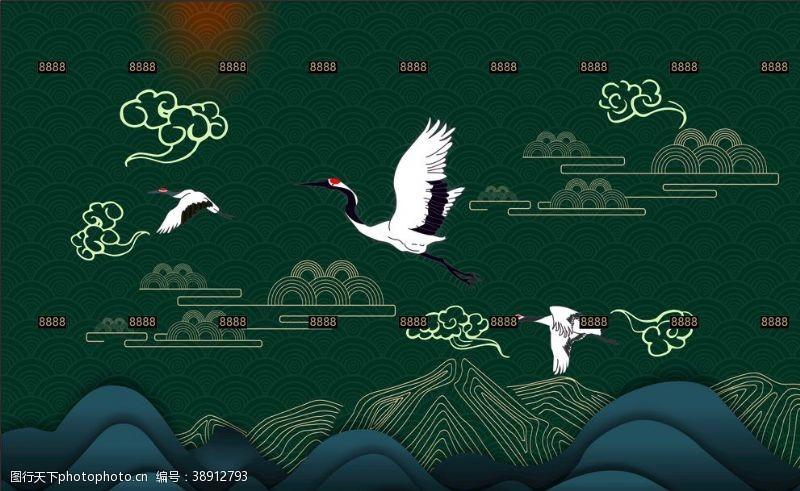 cdr中国风国风飞鹤