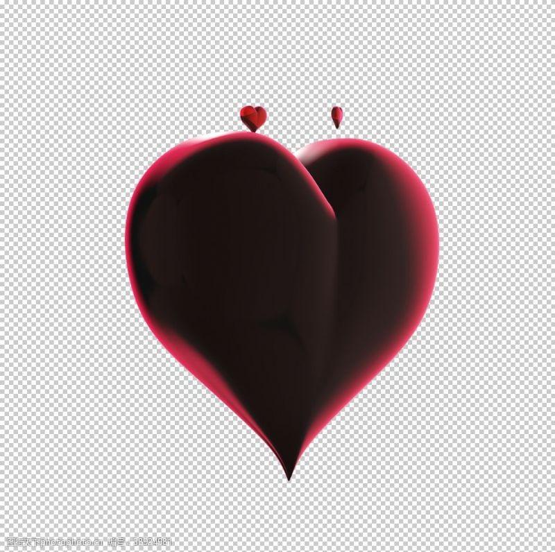 情人节展板 3D立体心形矢量素材图片