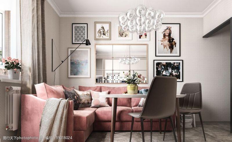 环境设计 北欧客厅室内设计图片