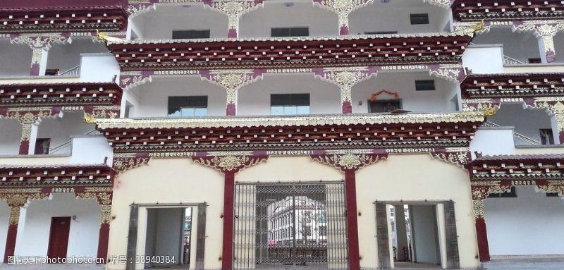 房屋古典建筑 藏区寺院古建筑图片