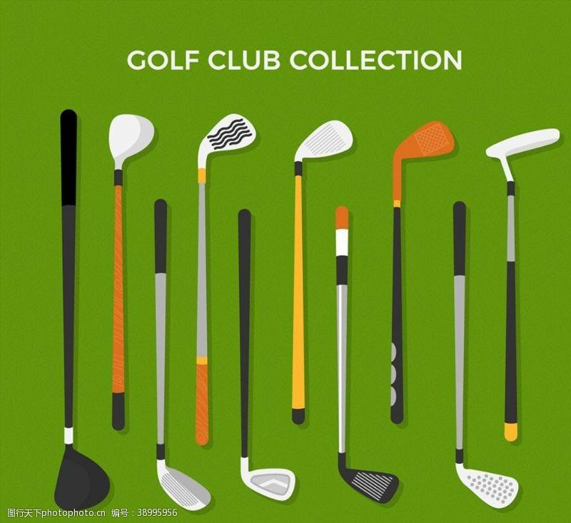 创意高尔夫球杆图片