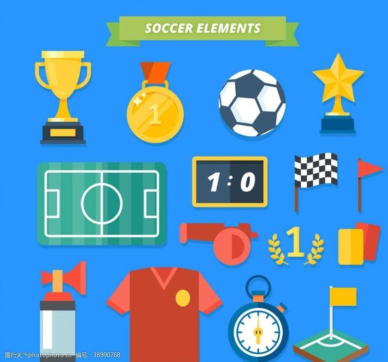 记分 创意足球元素图片