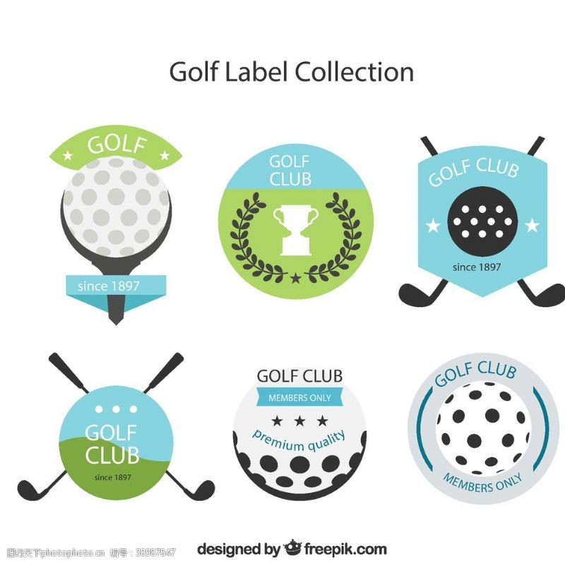 高尔夫球 高尔夫标签设计图片