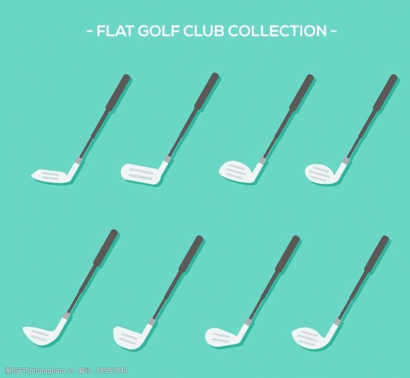 高尔夫球杆矢量图片