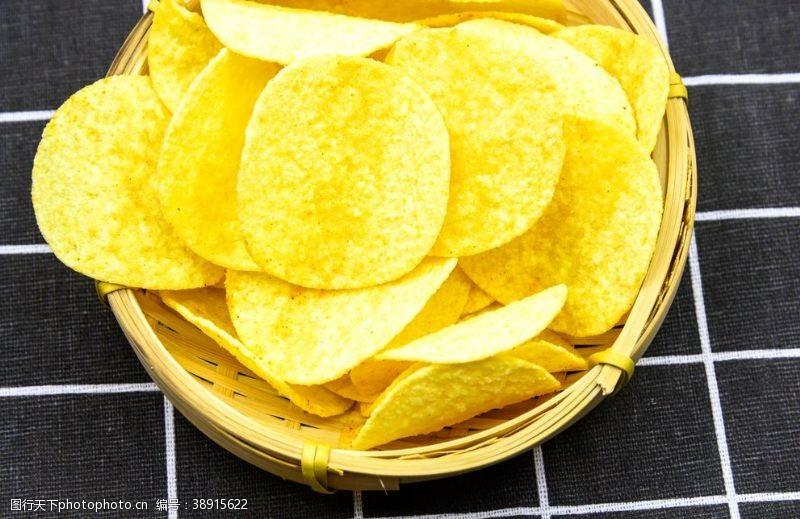 箩筐 薯片图片