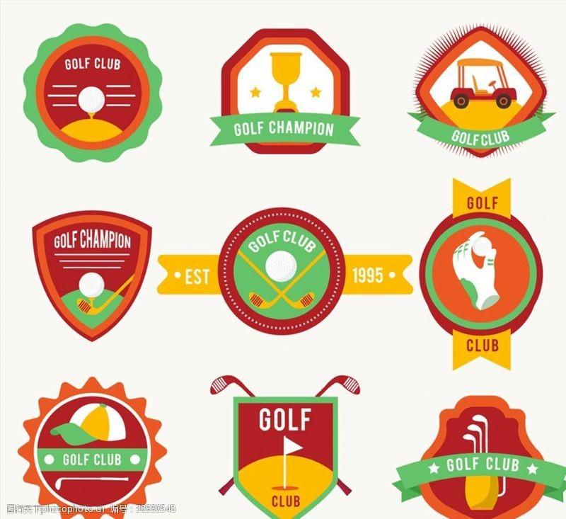高尔夫球 高尔夫俱乐部标签图片