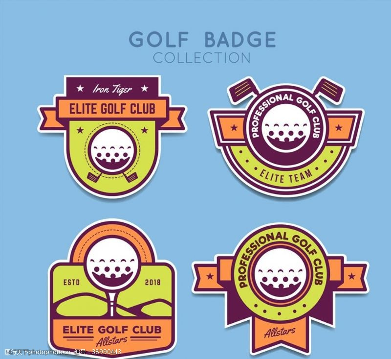 高尔夫球 高尔夫俱乐部徽章图片