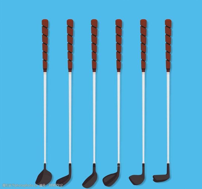 黑色高尔夫球杆图片