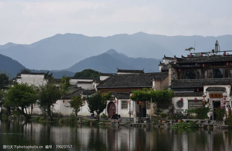 江南水乡风景建筑背景图片