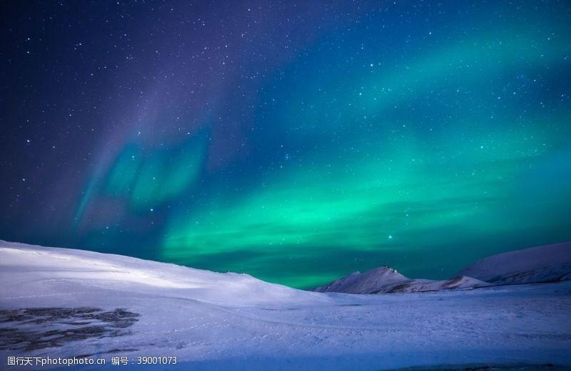 夜晚的天空 极光图片