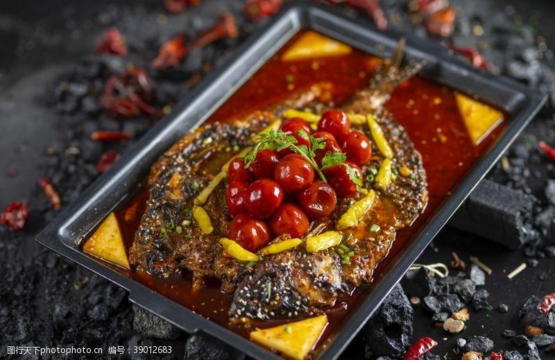 蒜香烤鱼 烤鱼图片