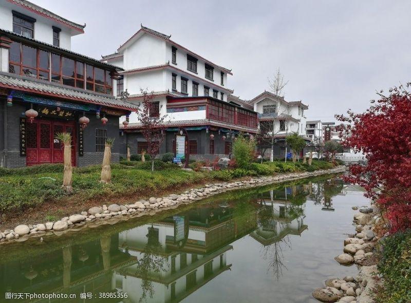 房屋古典建筑 古镇小河风景图片