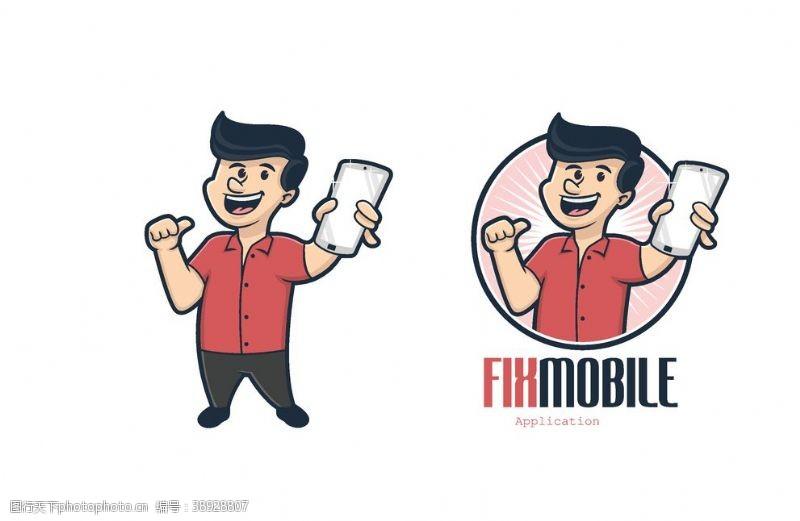 生活人物 卡通创意设计图片