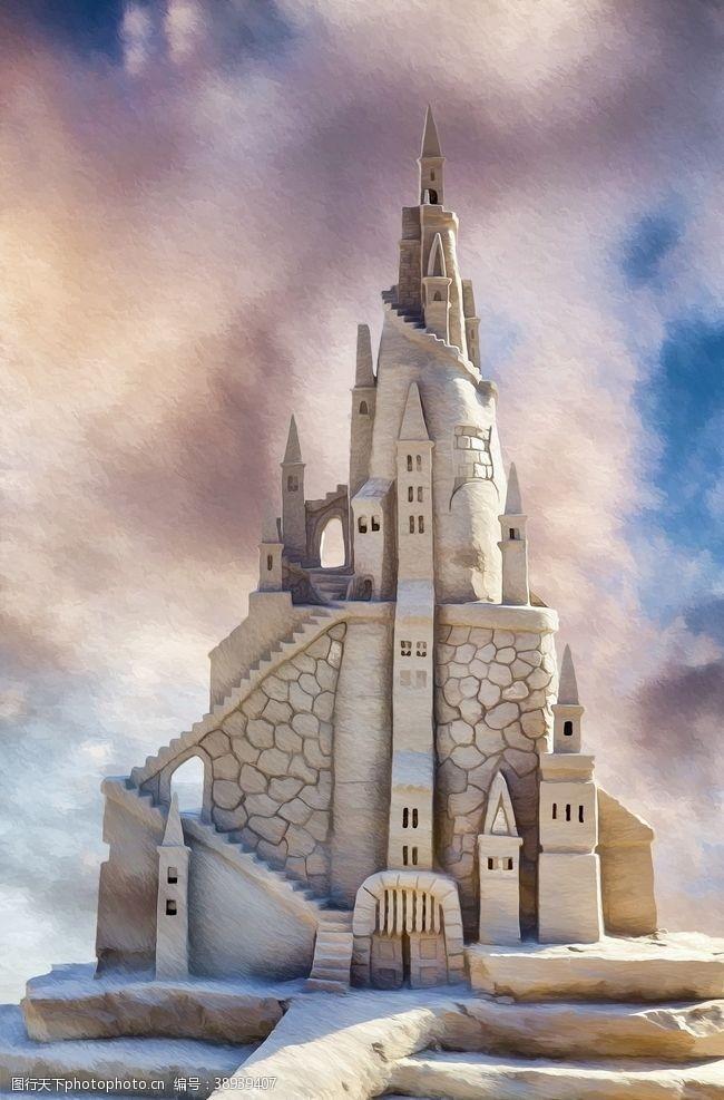 沙堡 城堡图片