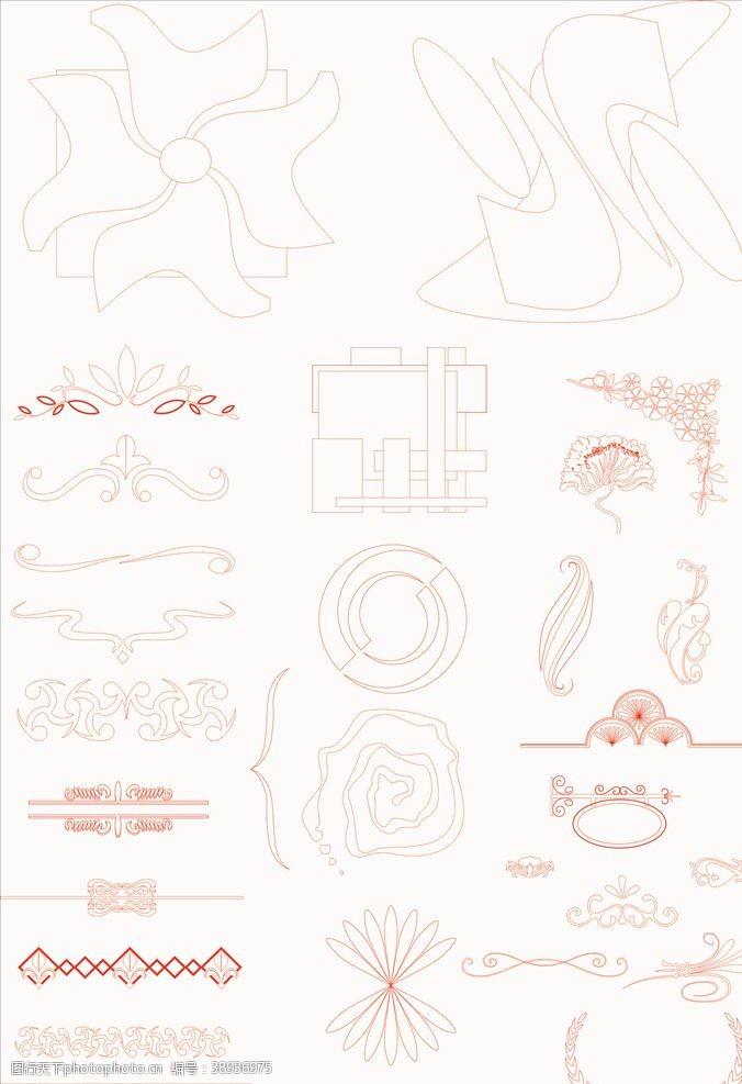欧式边框 底纹图案图片
