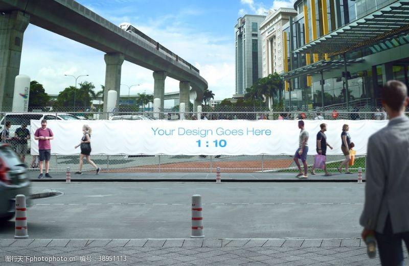 户外广告模板 广告样机图片