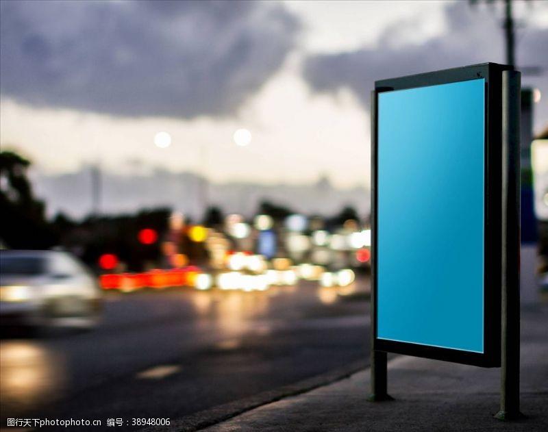 户外宣传样机 户外海报样机图片