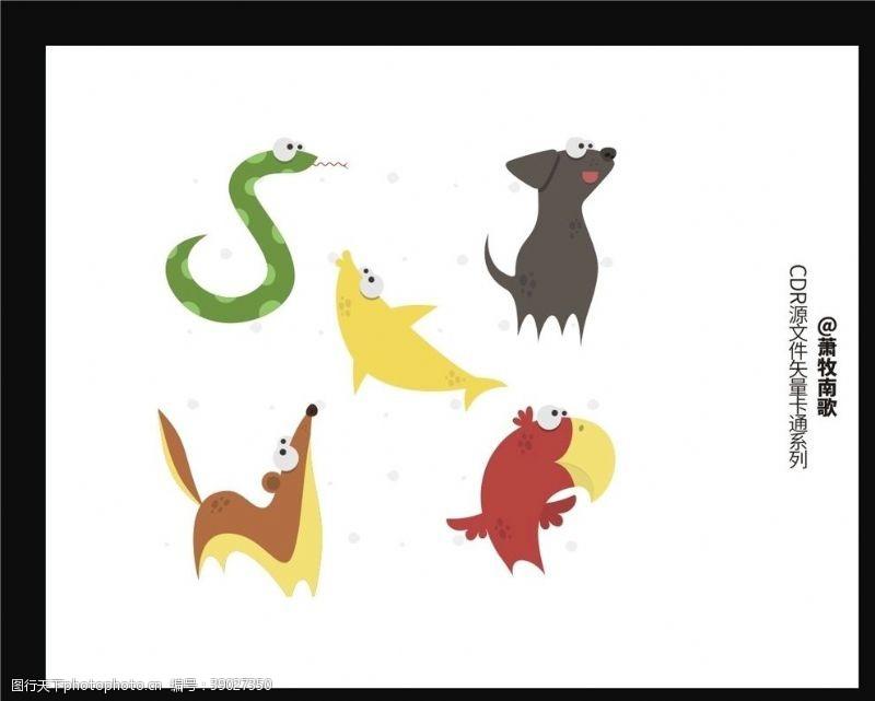 动漫动画 可爱动物CDR矢量图图片