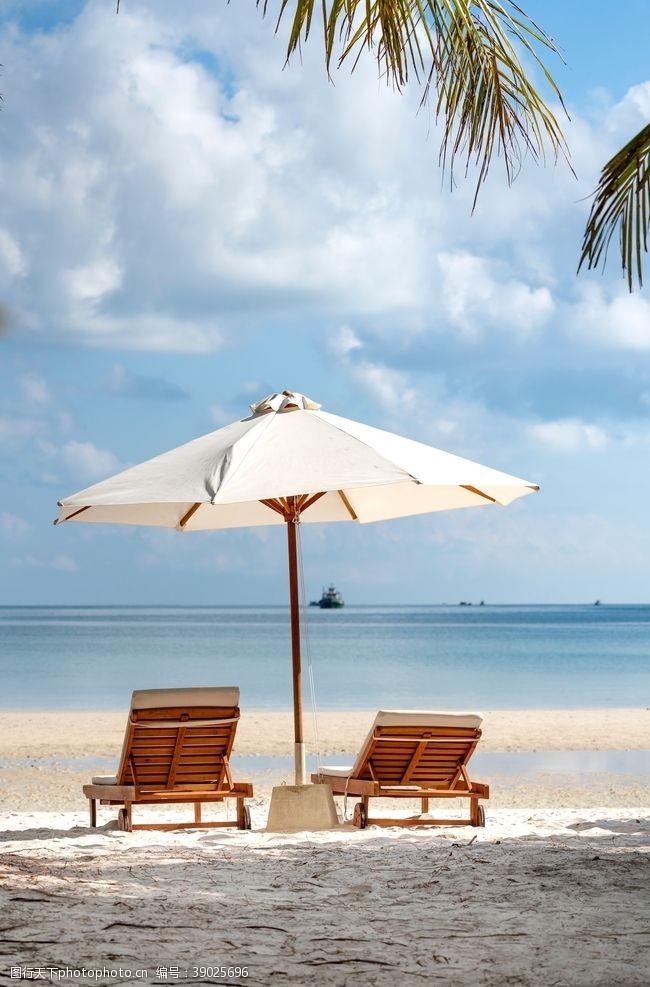 度假胜地 沙滩椅图片