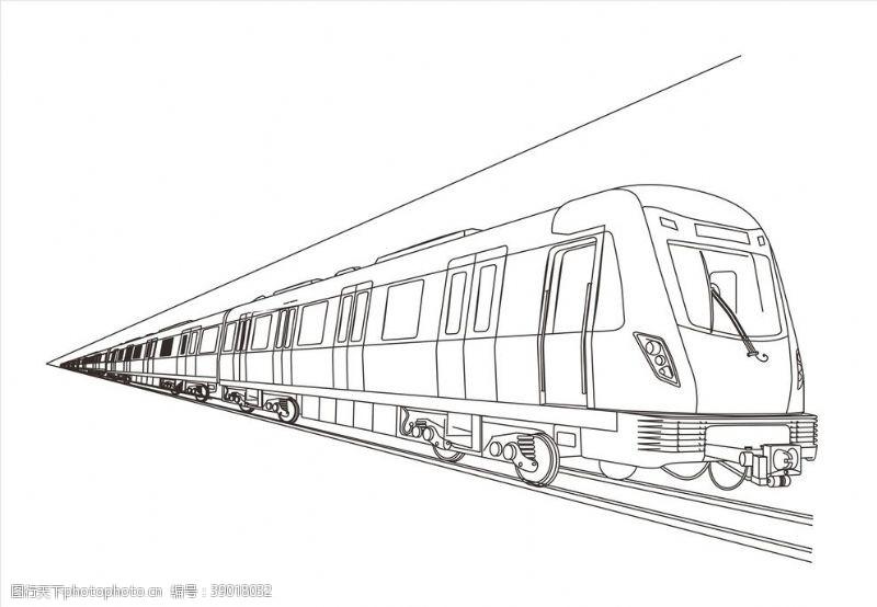 矢量图 地铁机车图片