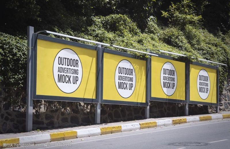 公交站牌样机图片
