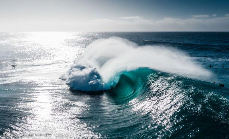 海浪背景素材图片
