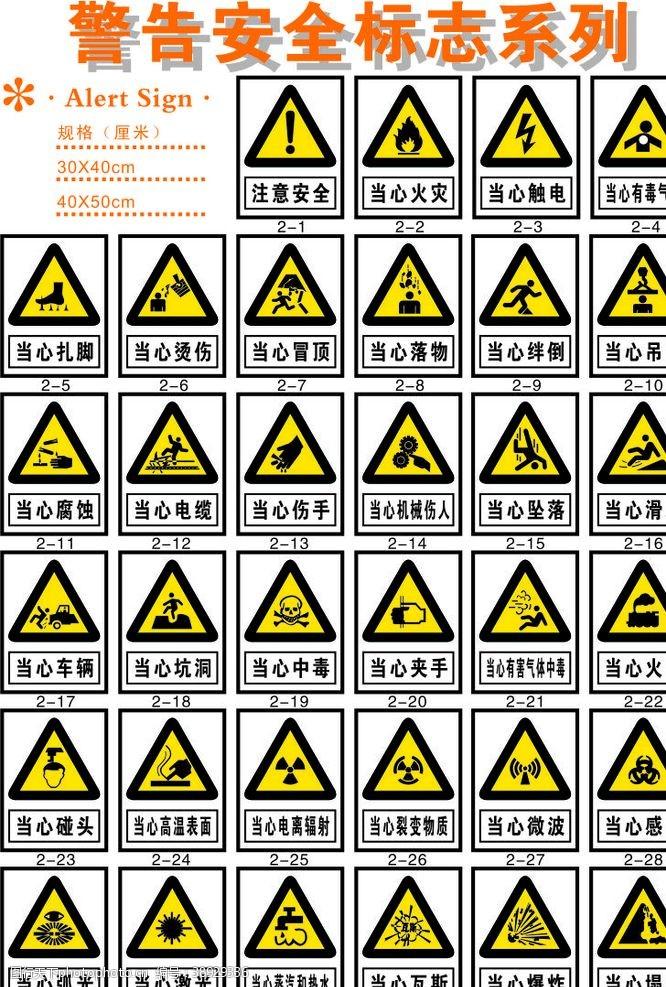 识别系统 警告安全标志系列图片