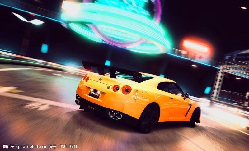 黄色跑车 跑车图片