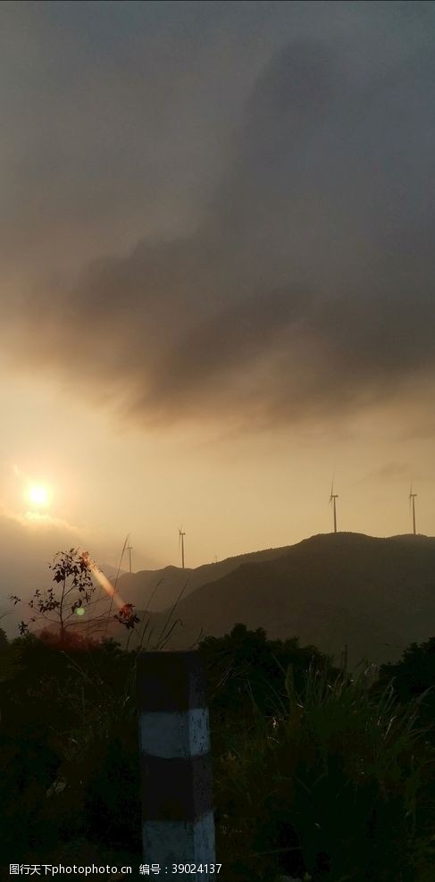 南安 芹山日落图片