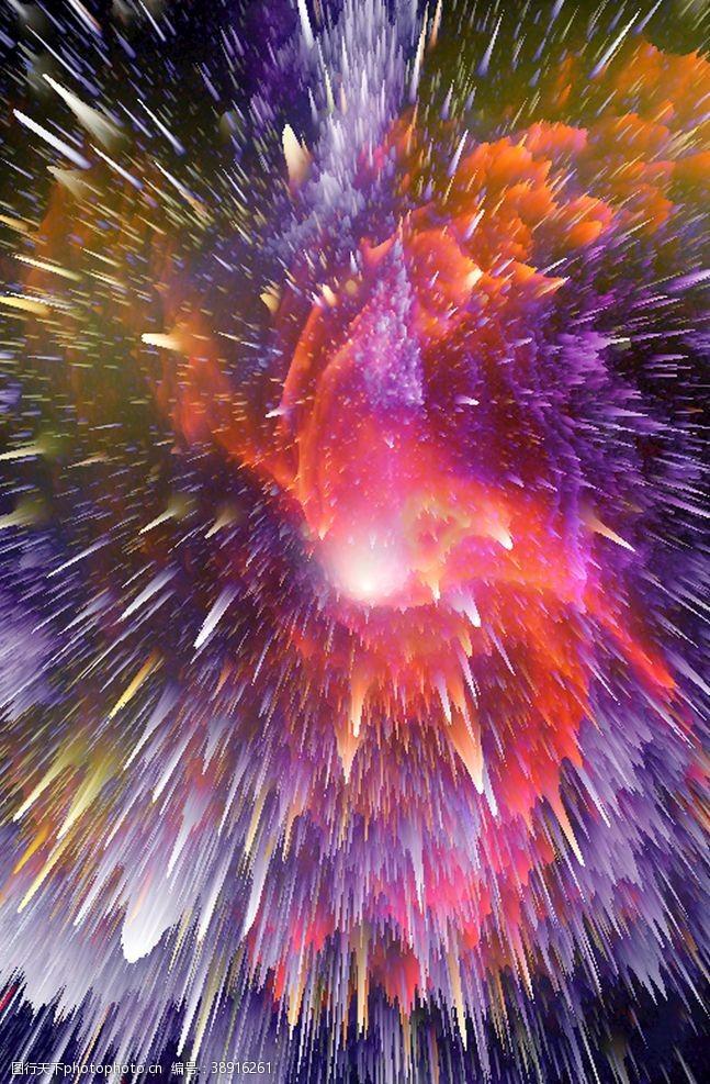 炫酷星空爆炸色彩背景图片