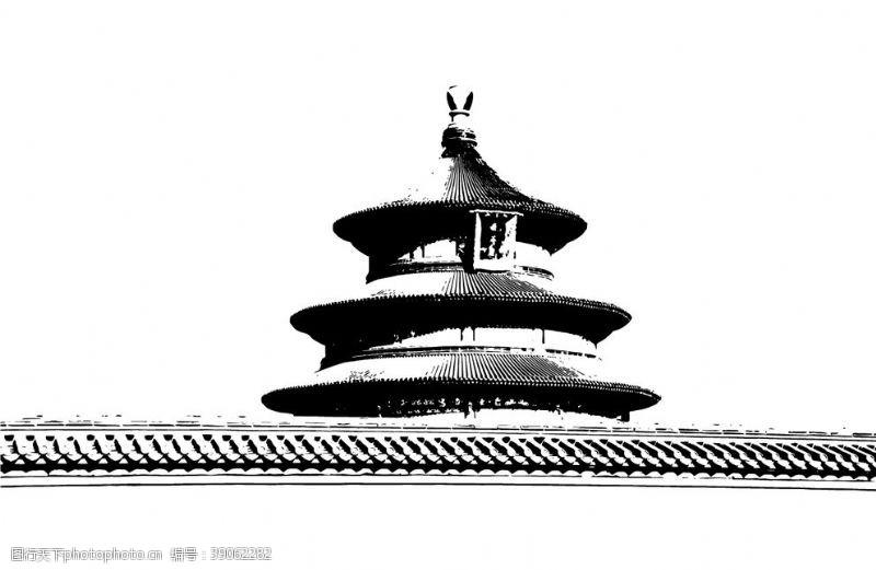 古代建筑矢量 地标建筑图片