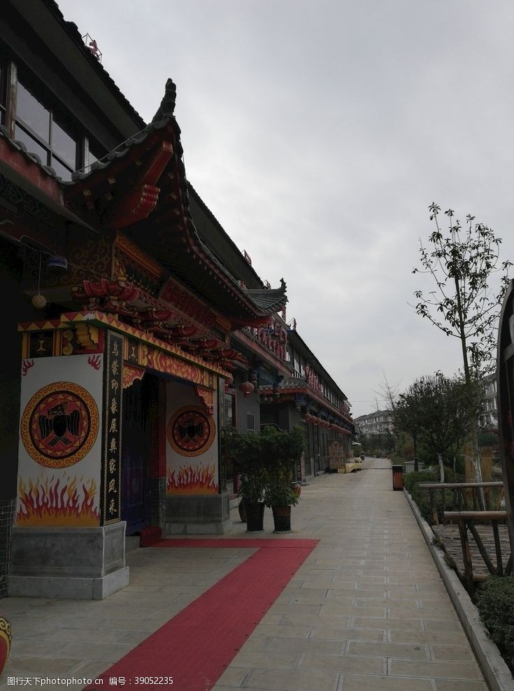 房屋古典建筑 古典商铺大门建筑图片