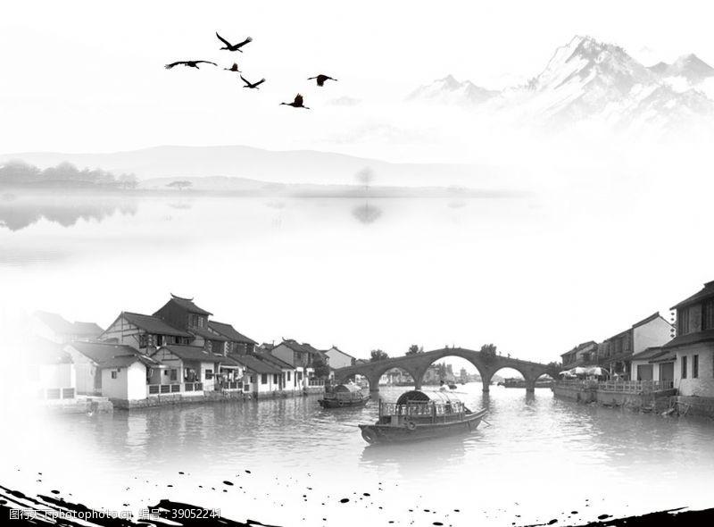 江南水乡中国风图片