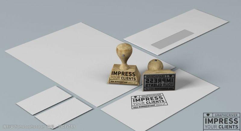 logo贴图样机 印章样机图片