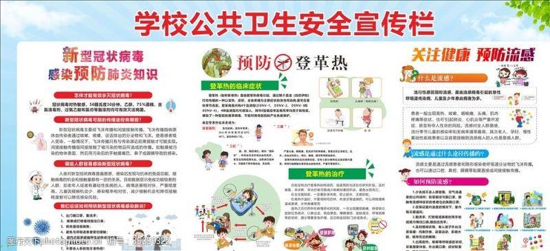 肺炎海报 公共卫生安全宣传栏新冠图片