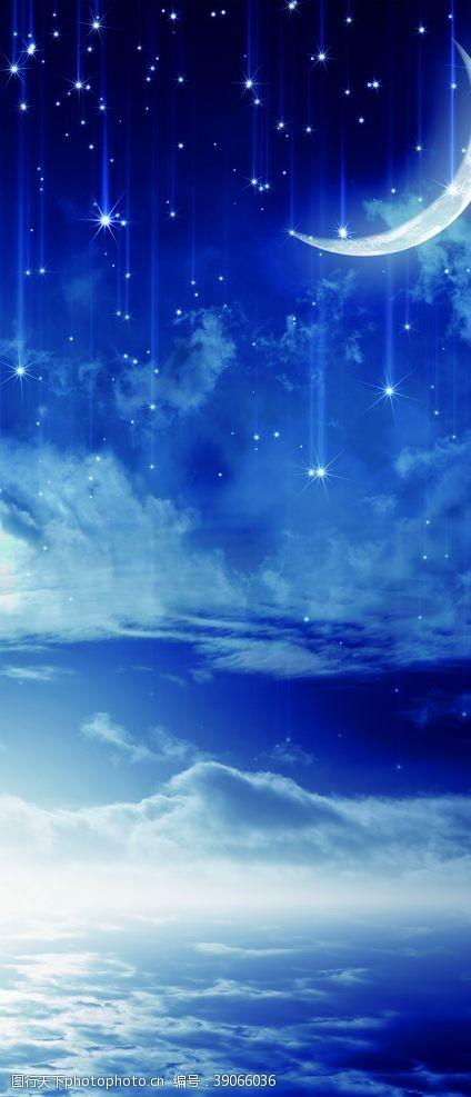 星空婚礼 蓝色星空图片