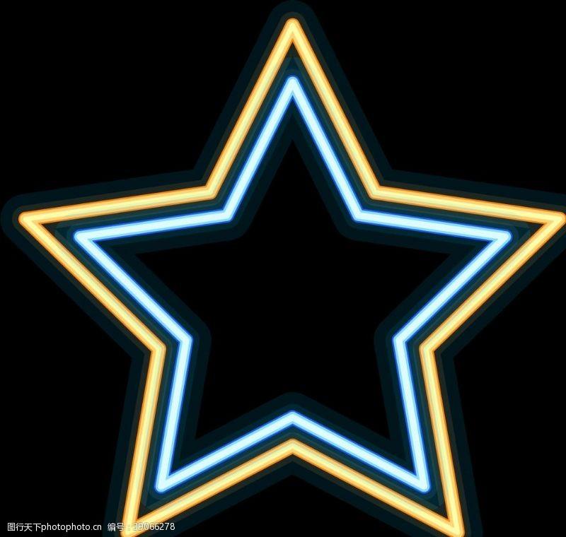 光艺术 霓虹灯星星图片