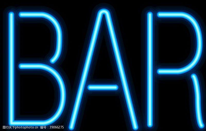 光艺术 霓虹灯字母图片