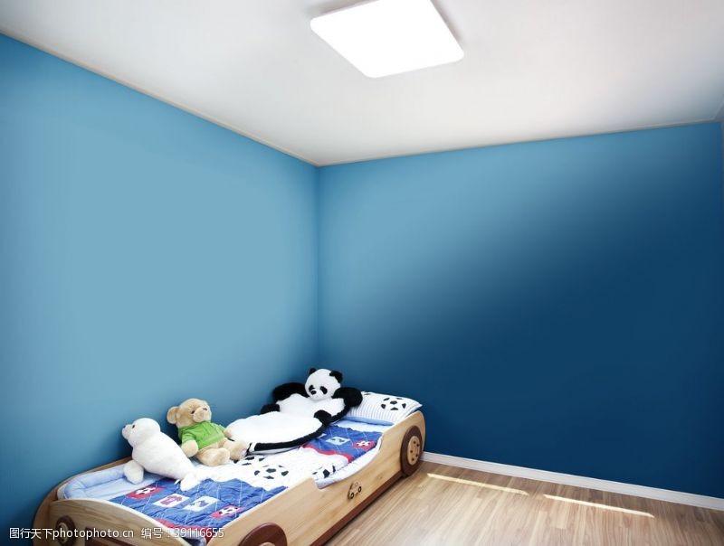 可爱卡通背景 房间样机图片