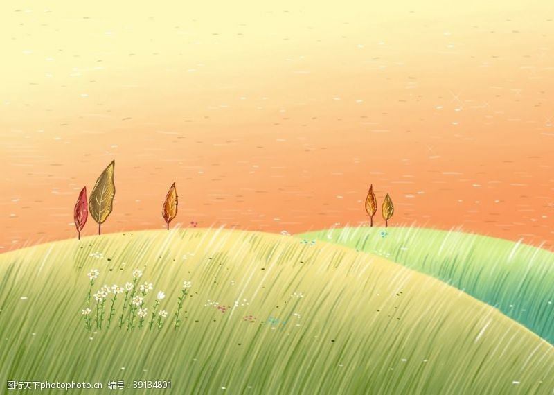 色彩 卡通梦幻场景图片