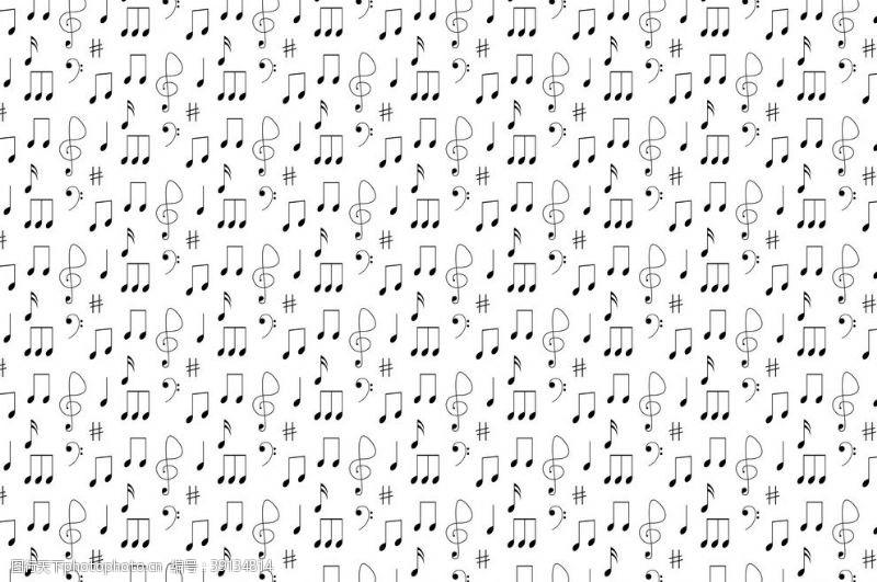 矢量音符 乐符背景图片