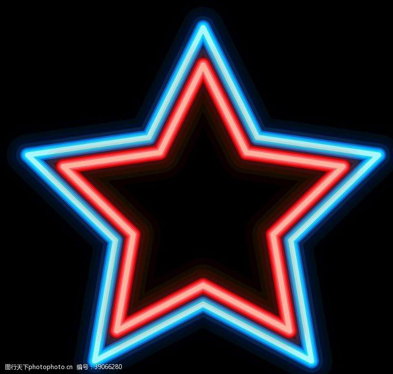 光艺术 霓虹灯五角星图片